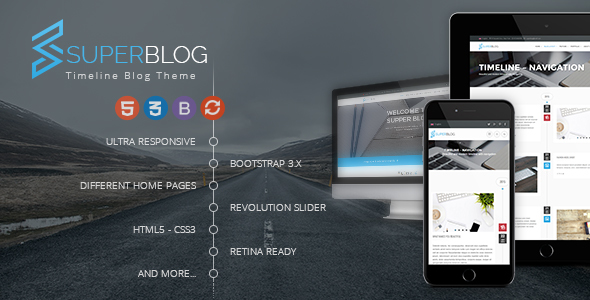 Super Blog - Shopping Responsive HTML Template