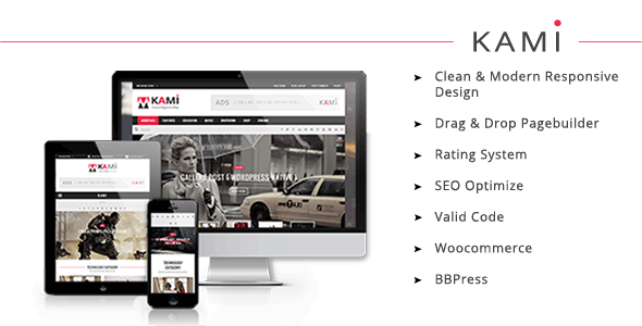 KAMI - Creative Magazine and Blog WordPress Theme