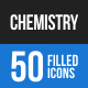 Chemistry Blue & Black Icons