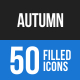 Autumn Blue & Black Icons