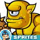 Cyclops Orcs 2D Game Character Sprites 258