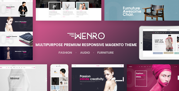 Wenro - Multipurpose Responsive Magento 2 Theme | 16 Homepages Fashion, Furniture, Digital and more