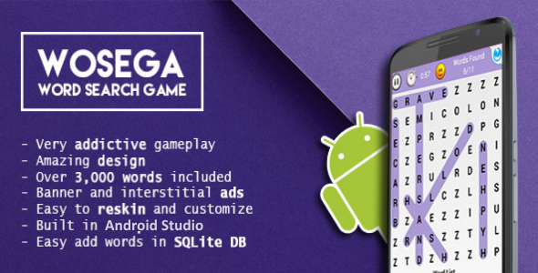 Word Search Android Puzzle Admob Integration Codecanyon Item