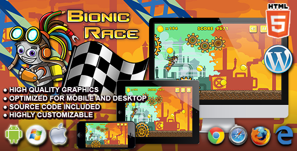 Download Bionic Race - HTML5 Running Game nulled download