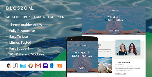 Image of Blossom – Responsive Email + StampReady Builder