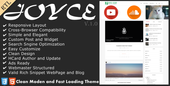 Joyce - Clean Responsive Blogger Theme
