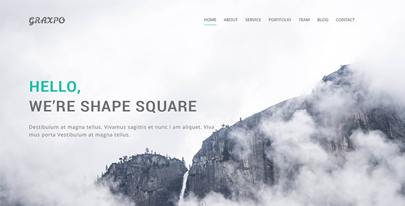Graxpo - Bootstrap Agency and Portfolio Template HTML