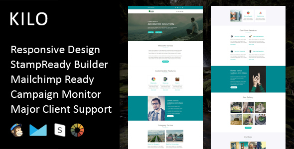 Kilo - Multipurpose Responsive Email Template + Stampready Builder