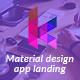 Keylead - Material Design App Landing Template