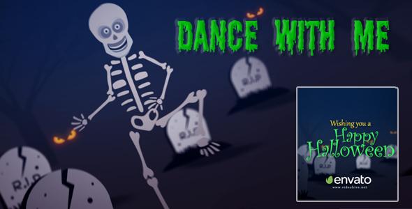 VideoHive Skelton Dance Halloween 17999598