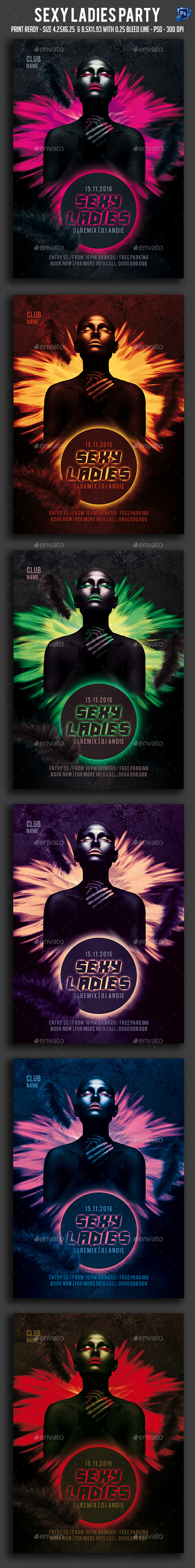 Sexy Ladies Party Flyer