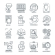 Coworking Monochrome Linear Icons