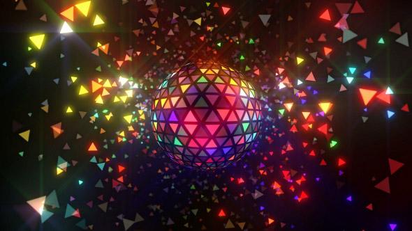 VideoHive Neon Disco Ball Triangles 18048773