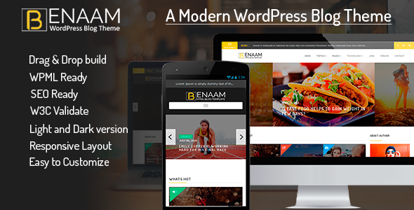 Benaam Multipurpose WordPress Blog Theme
