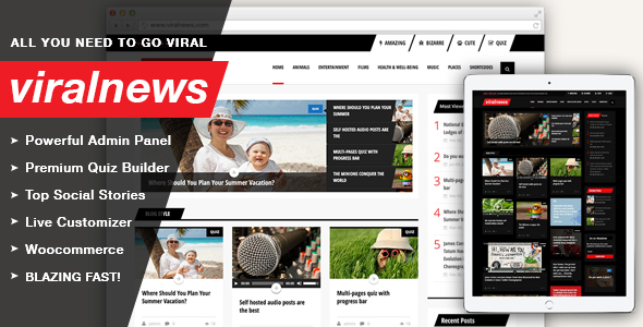 ViralNews - Buzz WordPress theme