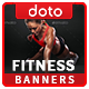 HTML5 Health & Fitness Banners - GWD - 7 Sizes (Elite-CC-108)