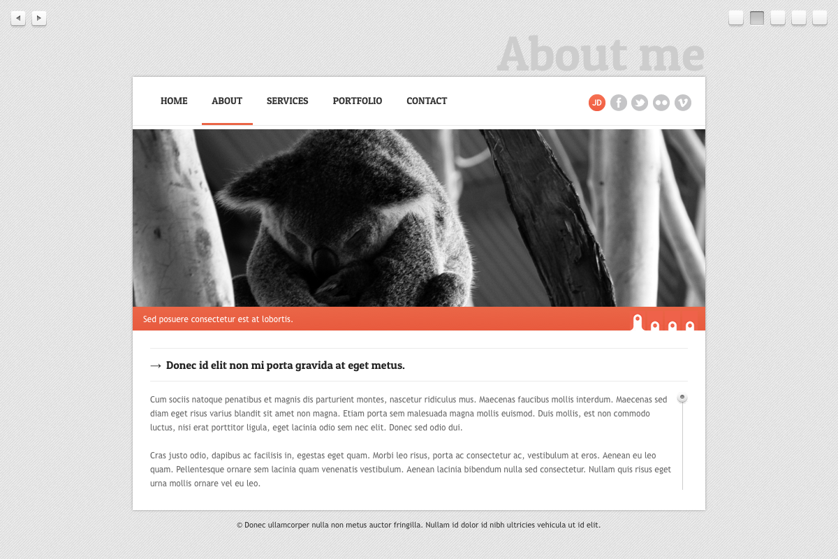 Horizontal lift - One page HTML/CSS Theme
