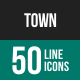 Town Line Icons-Graphicriver中文最全的素材分享平台