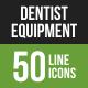 Dentist Equipment Line Green & Black Icons