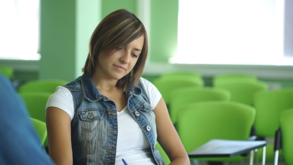 Download Girl Student Sitting in the Audience nulled download
