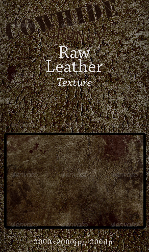 Grungy Leather Raw Cowhide Skin