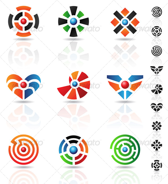 maze icons - Abstract Icons