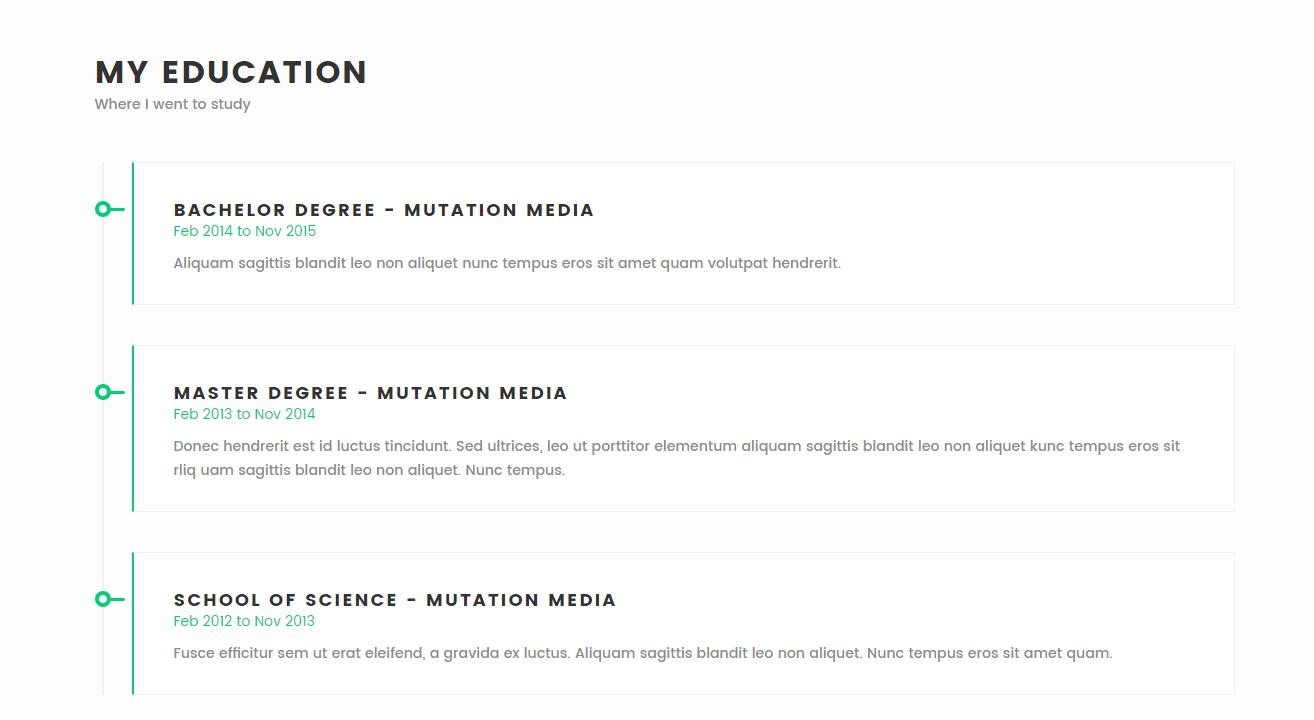 meraki one page html resume template by multidots themeforest meraki one page html resume template