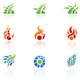 nature elements icons - GraphicRiver Item for Sale