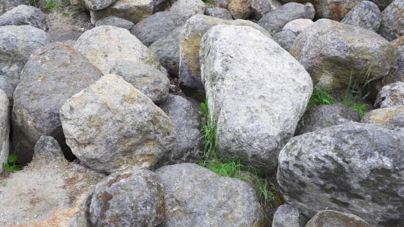 Download Group Of Big Boulder Stones Lying In Field, Natural Geologic Background nulled download