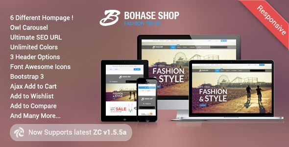 Bohase - Responsive and Multipurpose Zen cart Theme