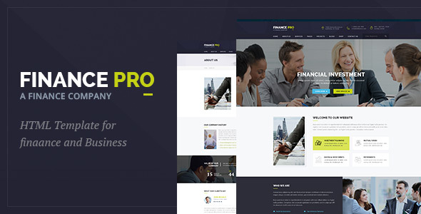 Download Finance Pro : Finance and Business HTML Template