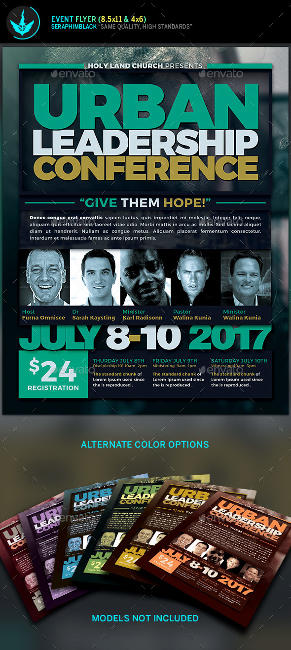 Urban Leadership Conference Church Flyer Template