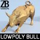Lowpoly Charging Bull