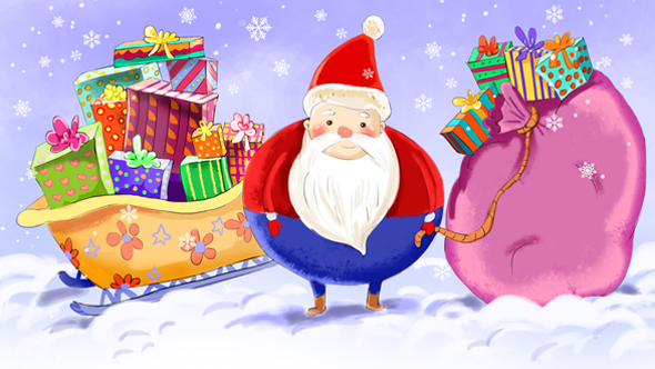 Download Santa with Sleigh full of Gifts nulled download