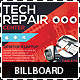 Tech Repair Center Signage Billboard Template