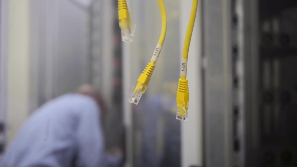 Download IT Engineer Checks The Server Rack nulled download
