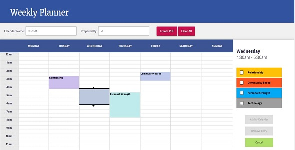 Download Weekly Planner - AngularJS directive nulled download