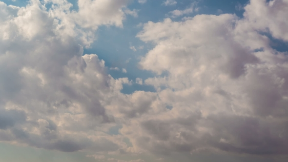 Download White Fluffy Clouds Over Sky nulled download