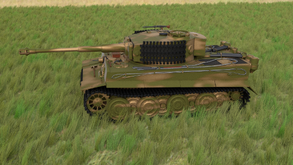 Panzer Tiger Tank Late 1944 HDRI v2 - 3DOcean Item for Sale
