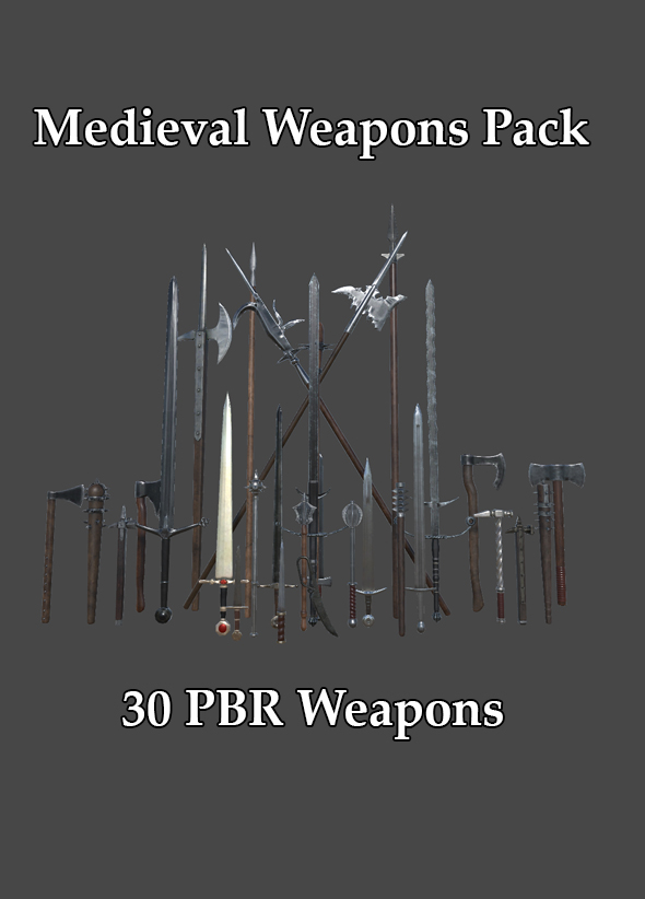 Medieval weapons Pack - 3DOcean Item for Sale