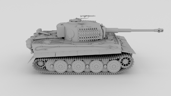 Panzer Tiger Tank Clay - 3DOcean Item for Sale