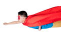 Asian Chinese boy wearing super hero costume