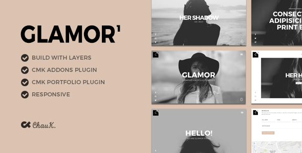 Glamor – Creative Portfolio WordPress Theme (Creativo)