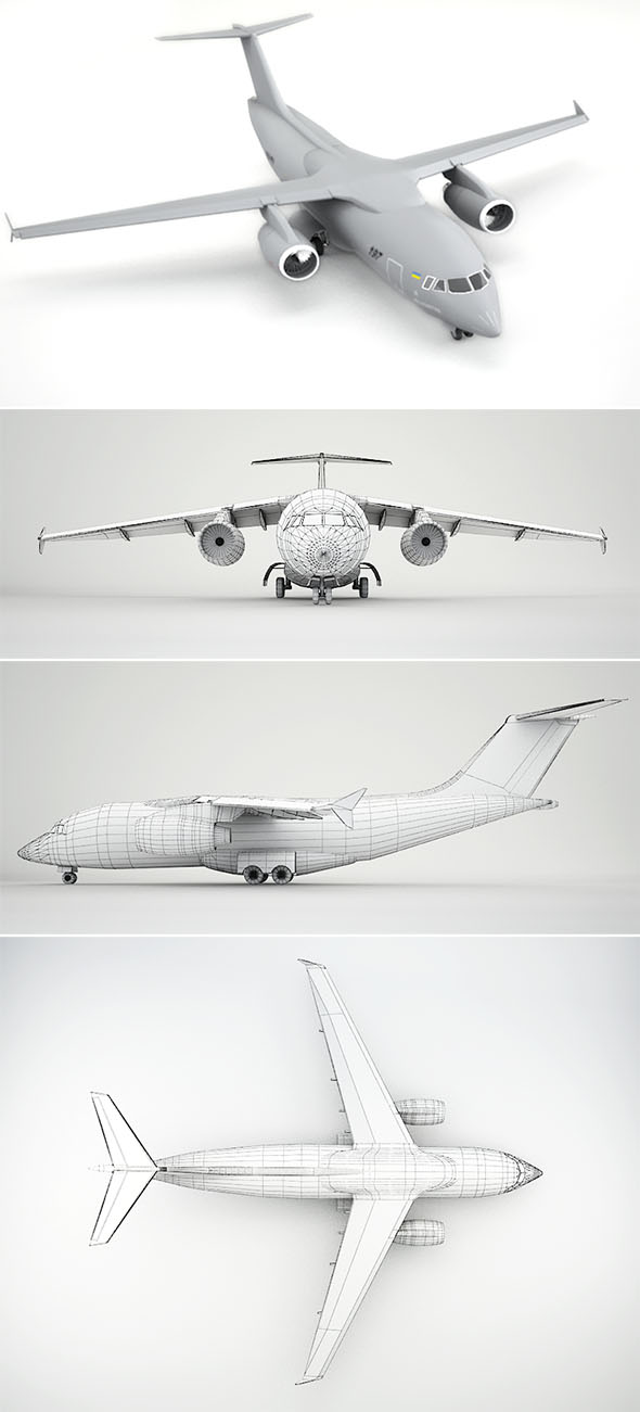 Antonov An-178 - 3DOcean Item for Sale