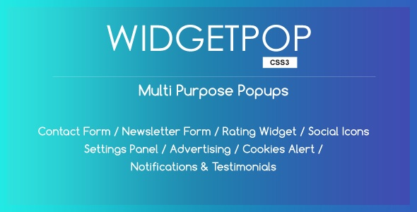 WidgetPop - Multipurpose Ready-made Popup Templates