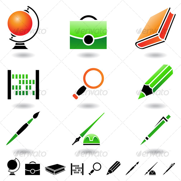 GraphicRiver school objects 69672