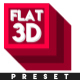 Flat 3D V2 - After Effects Preset (CS6 and Above)