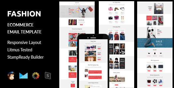 Download Fashion - Ecommerce Responsive Email Template + Stampready Builder nulled download