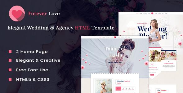Forever Love - Elegant Wedding & Agency HTML Template