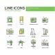 Home Appliances - Line Design Icons Set